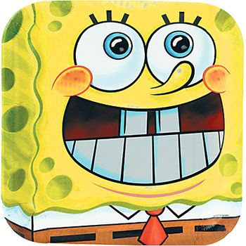 Spongebob Dinner Plate 8ct Birthday Party Supplies Plates