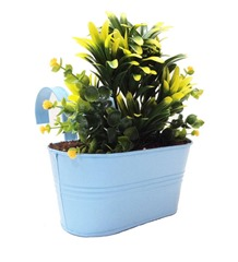 Hanging Planter With Double Handle S. Blue