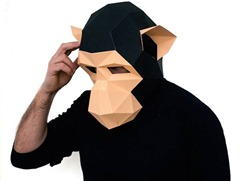 DIY Paper Monkey Masks