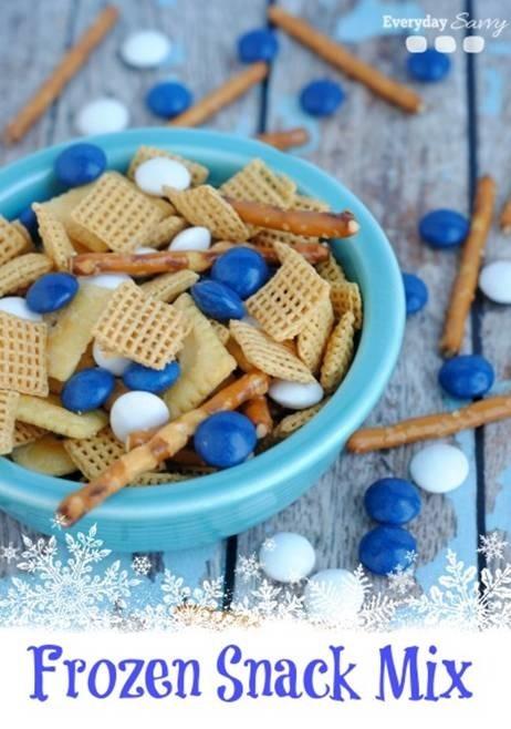 Frozen Birthday Party Snack Mix