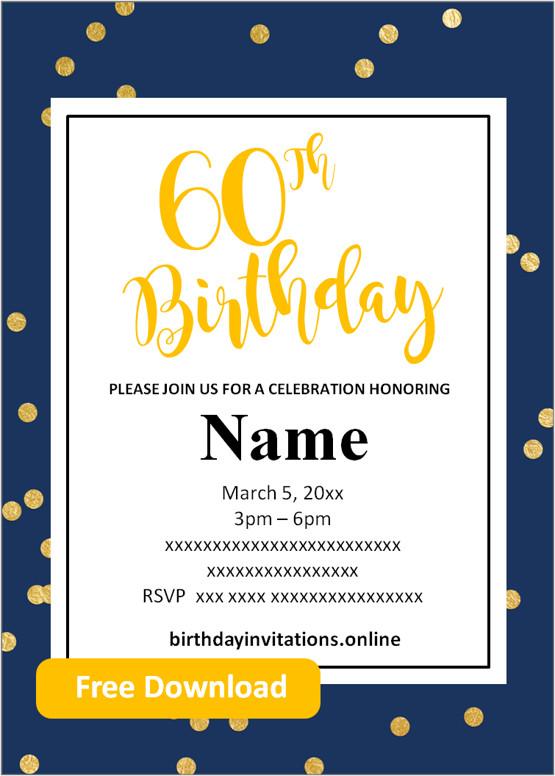 free printable 60th birthday