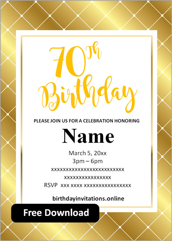 birthday invitation free printable