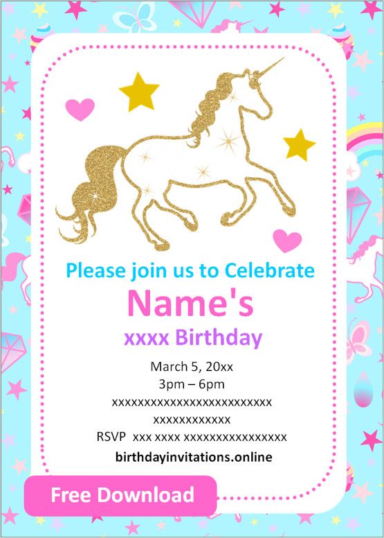 free printable girl birthday