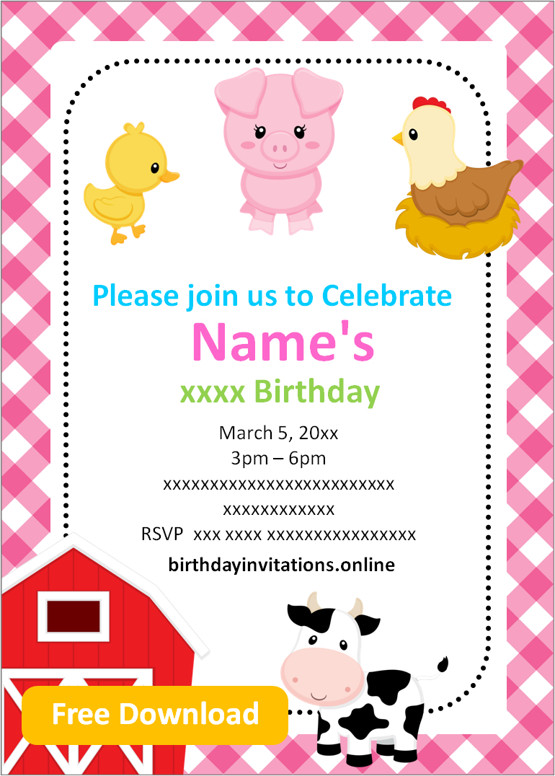 free printable girl birthday