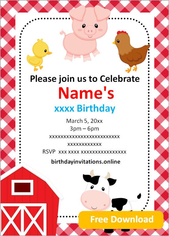 free printable boy birthday invitations