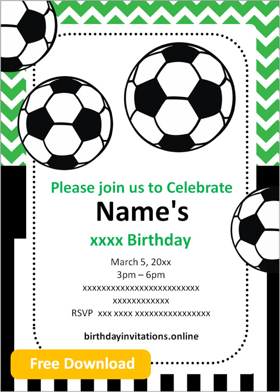 free printable boy birthday invitations