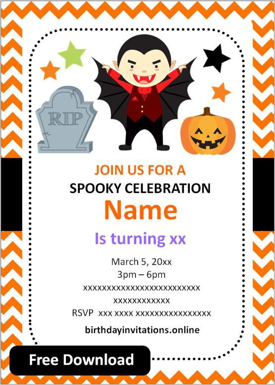 birthday invitation free printable