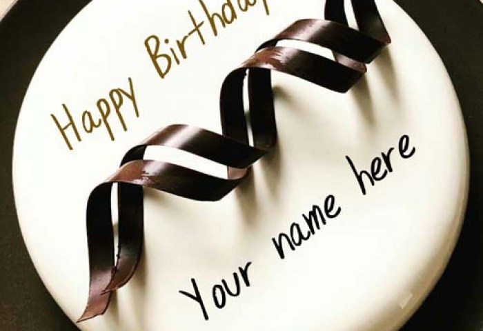 Vanilla Flavor Birthday Cake With Name For Hubby