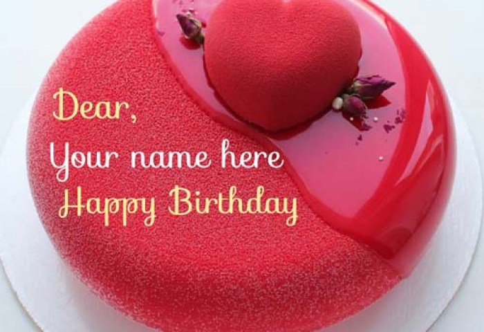 Write Name On Special Birthday Cake For Lover