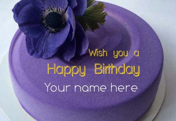 Write Name On Happy Birthday Cake For Friends