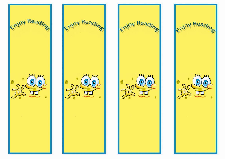 Spongebob Bookmarks