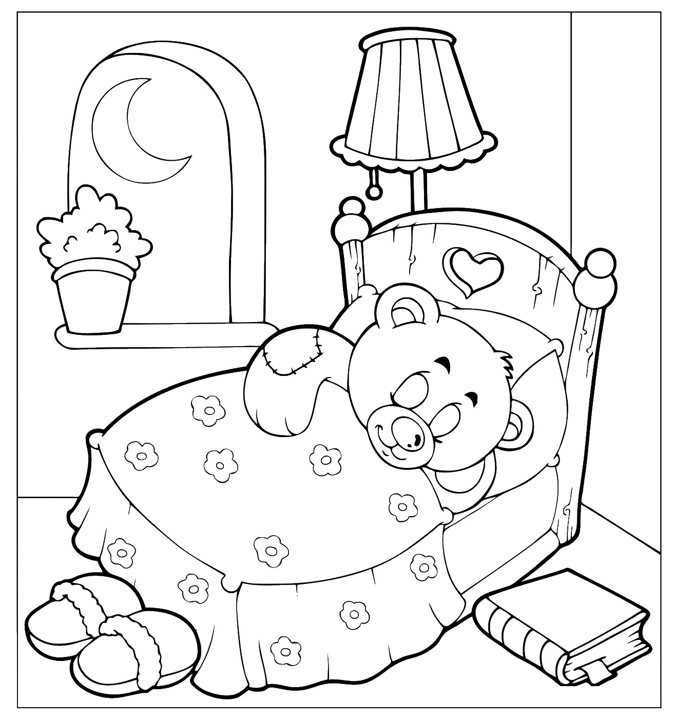 Sleepover Coloring Pages