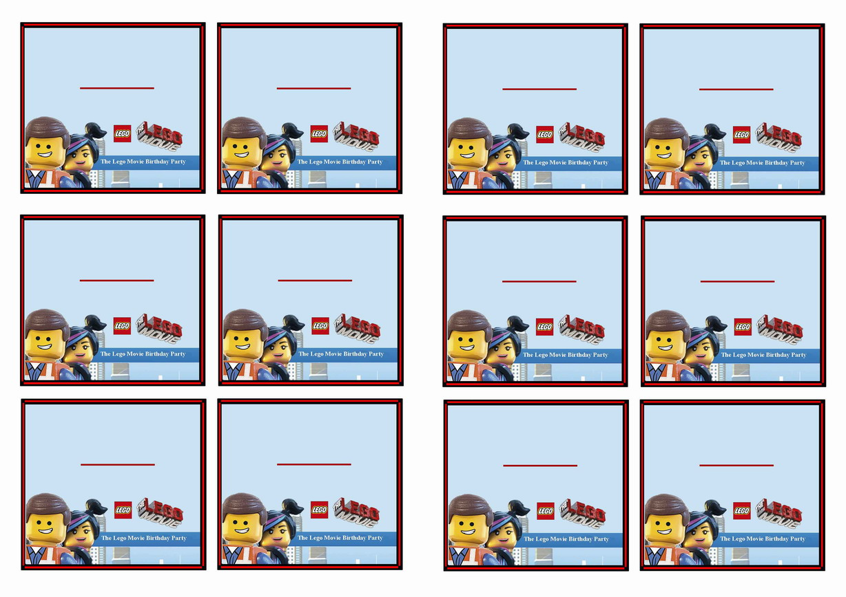 The Lego Movie Name Tags