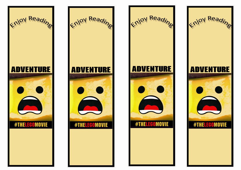 The Lego Movie Bookmarks Birthday Printable