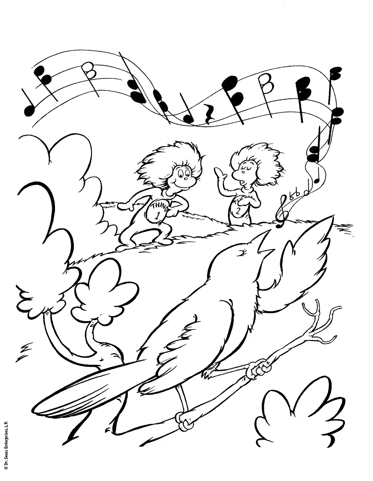 Dr Seuss Coloring Pages Birthday Printable