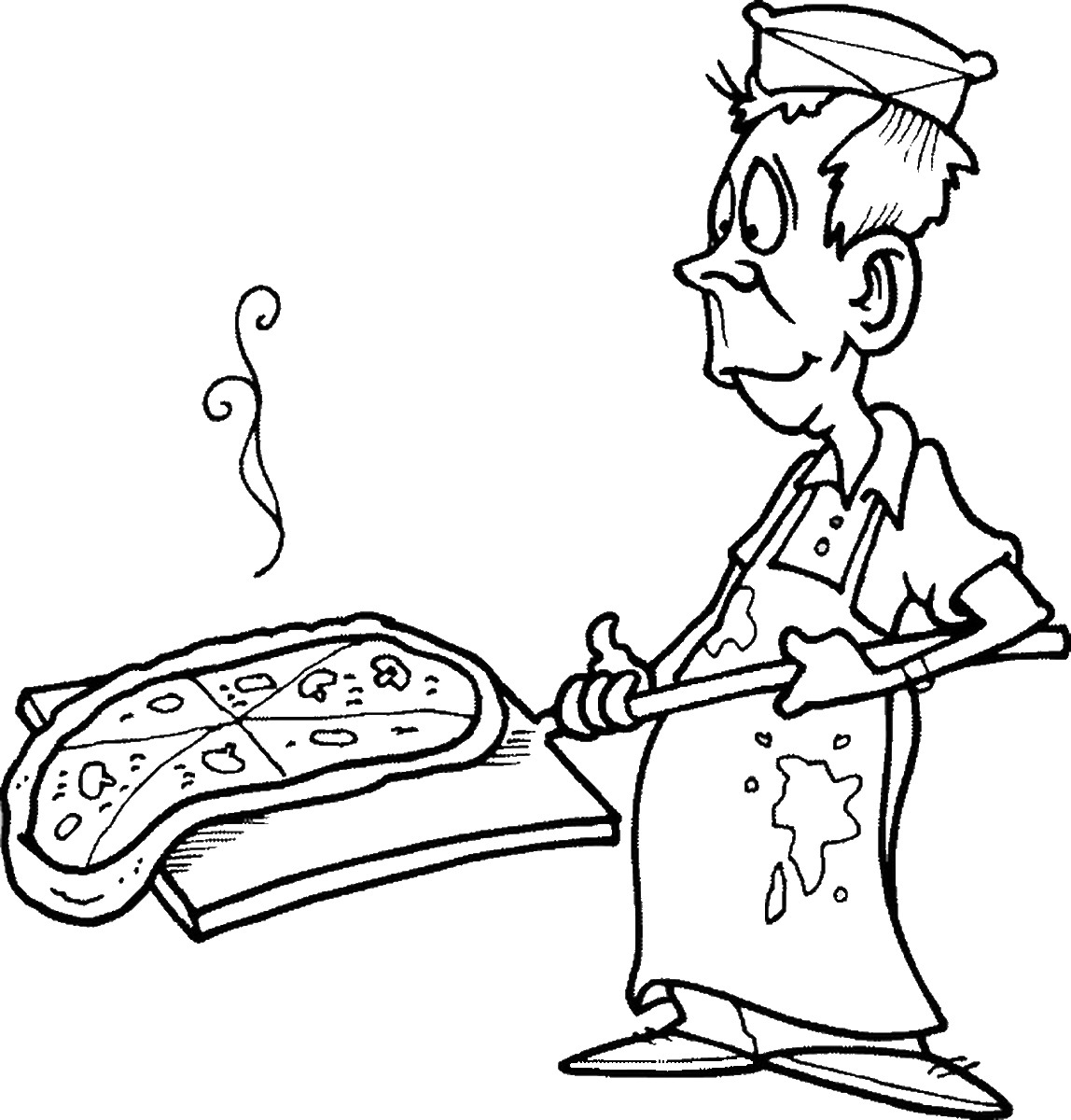 Pizza Party Coloring Pages Sketch Coloring Page