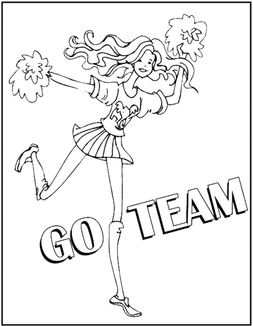 cheerleading coloring pages  birthday printable