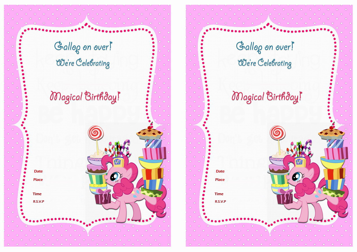 My Little Pony Birthday Invitations Birthday Printable