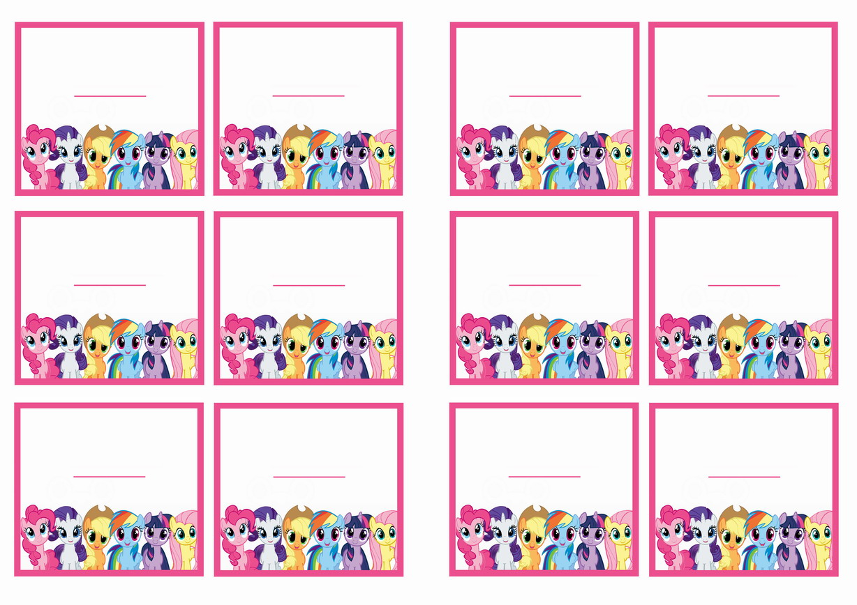 My Little Pony Name Tags