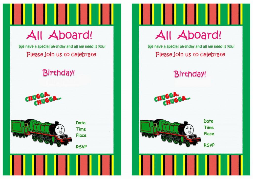 train birthday invitations birthday