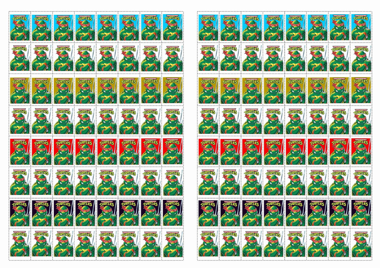 Teenage Mutant Ninja Turtles Stickers Birthday Printable