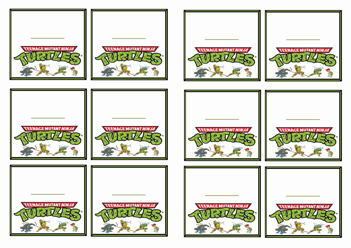 Teenage Mutant Ninja Turtles Name Tags