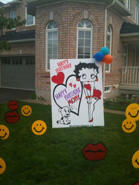Beautiful Betty Lawn Sign