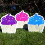Cupcake lawn ornaments