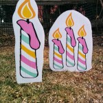 candle lawn ornaments
