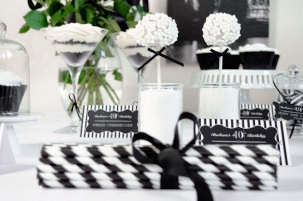 Black And White Party Decorations Ideas How To Decorate In For A Bash Corner