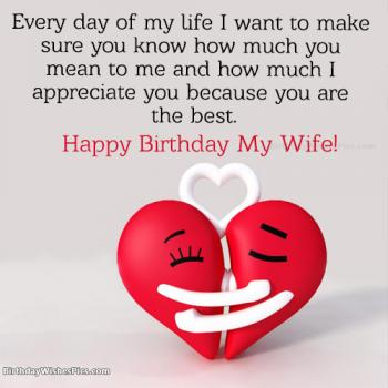 Happy Birthday Wishes For Wife With Romantic Images