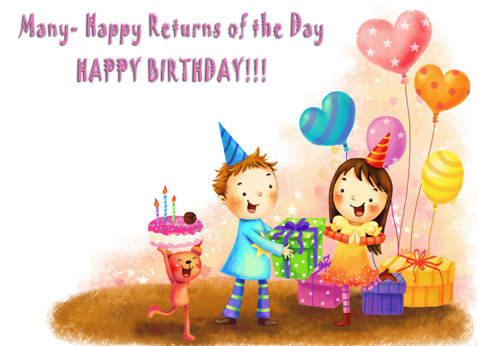 Amazing 50 Birthday Wishes For Kids 2016 Birthday Wishes Zone – Cartoon Birthday Greetings