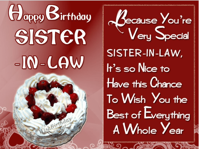 50 Birthday Wishes For Sister In Law