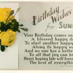 Latest Sunday Birthday Wishes