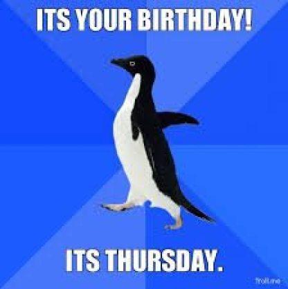 Thursday Birthday