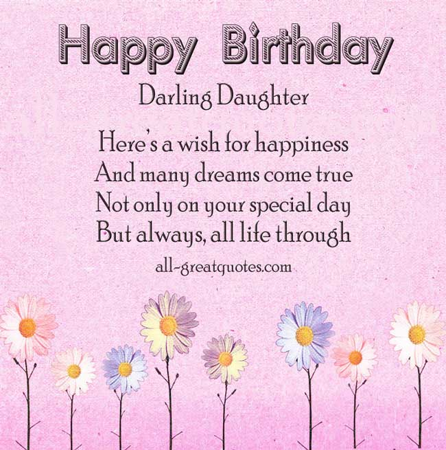 Birthday Wishes For Daughter Birthday Wishes Zone – Birthday Greetings for a Daughter from Mother