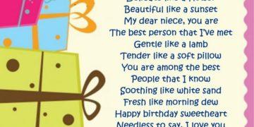 Birthday Poem For Niece