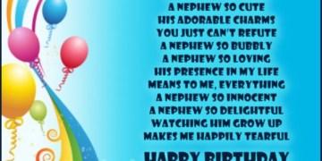 Nephew Birthday Poem