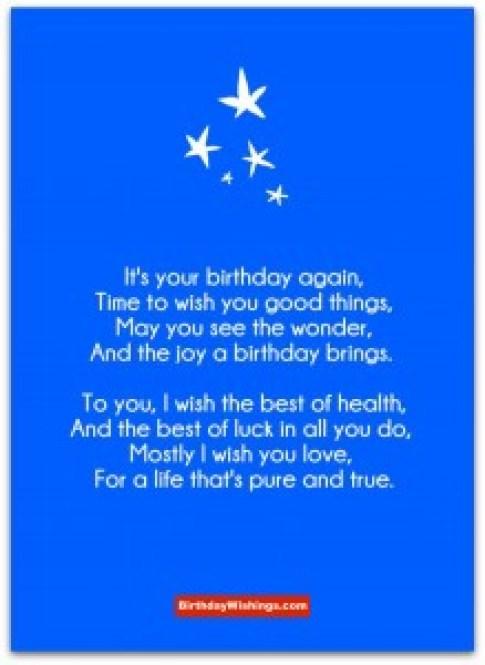 Best Wishes For Birthday   Birthday Poem