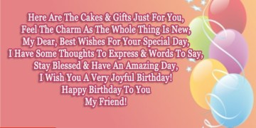 Special Friend Birthday Poem