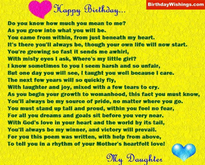 Daughter's Birthday Poem