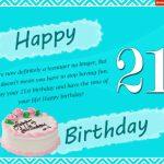 21st Birthday Poem