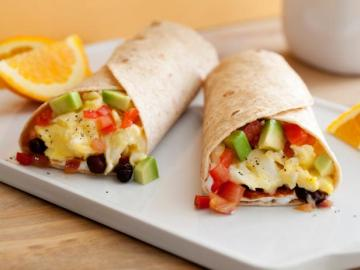 Mexico Green Chile Breakfast Burritos