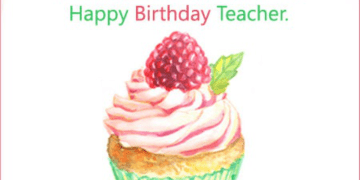 Teacher Birthday Wishes