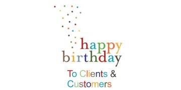 Customers Birthday Wishes
