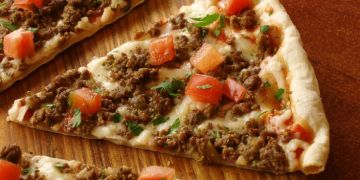 Quick Beef Pizza