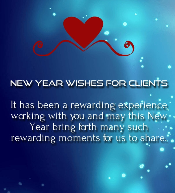 new years wishes for business partners