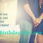Unique Romantic Birthday Wishes