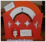 Kommunionkarte in Form eines Kirchenportals