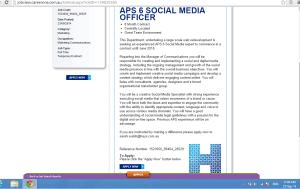 social media gov job